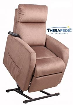 Power Lift Chair Recliner by Therapedic – Beautiful Mocha Soft to the Touch, Cooling Gel Foam, 3 ...