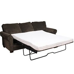 Classic Brands Cool Gel Memory Foam Replacement Sleeper Sofa Bed 4.5-Inch Mattress, Twin