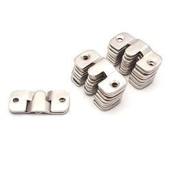 Sydien 20Pcs Metal Sectional Sofa Interlocking Furniture Connector Bracket 2mm Thickness