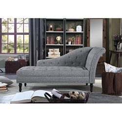 Rosevera D8-3 Deedee Chaise Lounge, Grey