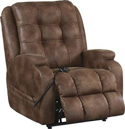 4855-29(Almond) Catnapper Jenson Power Lift Recliner Chair.-Rated for 400 lbs. 79 in. Ext. Lgth. ...