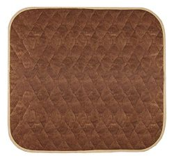 "Americare Absorbent Washable Waterproof Seat Protector Pads 21""x22"" – BROWN"