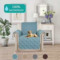 Turquoize Waterproof Furniture Protector for Chair Recliner Quilted Sofa Couch Slipcover Perfect ...