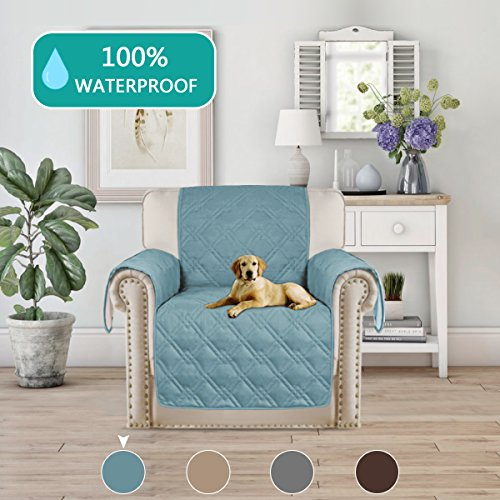 Turquoize Waterproof Furniture Protector For Chair Recliner Quilted Sofa  Couch Slipcover Perfect .