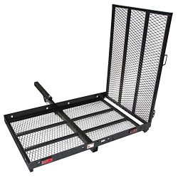 ALEKO MC500 500 Pound Capacity Wheelchair and Power Scooter Folding Cargo Carrier Rack with Fold ...