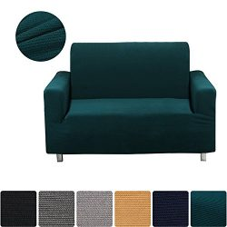 Homaxy Jacquard Stretch Sofa Slipcovers, Vintage Thick Stripe Furniture Couch Fitted Protectors  ...