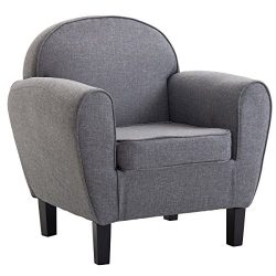 Giantex Arm Chair Single Sofa Modern Leisure Accent Chair Linen Upholstered Club Living Room Fur ...
