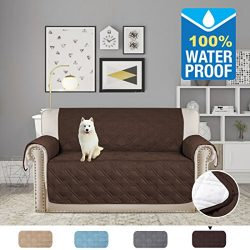 H.VERSAILTEX Premium Quilted Furniture Protector Non-slip with Plastic Drop Printing Microfiber  ...