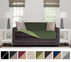 Sofa Shield Original Reversible Couch Slipcover Furniture Protector, Seat Width Up to 54″, ...