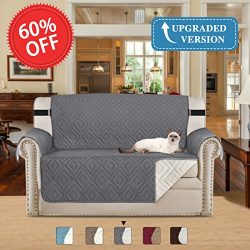 H.VERSAILTEX Luxurious Loveseat Reversible Machine Washable Slipcovers for Chairs with Adjusts S ...