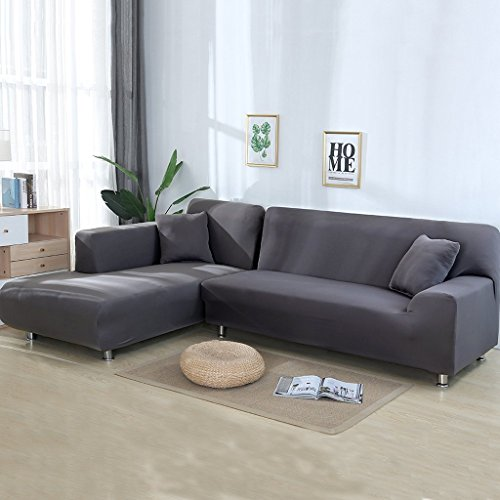 Taiyucover Stretch L-Shaped Sofa Slipcover;2PCS Sectional ...