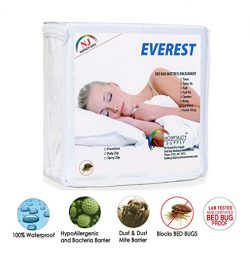 Everest Supply Premium Plus Mattress Encasement, 100% Waterproof,Bed Bug proof, Hypoallergenic,  ...