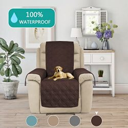 Turquoize Quilted Furniture Recliner Protector Anti-Skid, Microfiber Sofa Chair Protector/Slipco ...