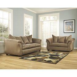 Signature Design by Ashley Flash Furniture Darcy Living Room Set in Mocha Microfiber