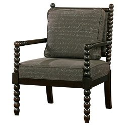 Ashley Furniture Signature Design – Milari Accent Chair – Hand Written Scrolling  ...