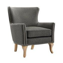 Dorel Living DA7903 Reva Chair Accent, Charcoal