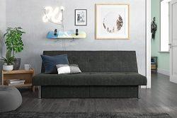DHP 2037419 Sola Storage Futon, Gray