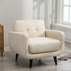 Roundhill Furniture Modibella Contemporary Living Room Accent Chair, Tan