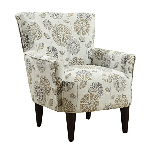 Emerald Home Flower Power Cascade Mineral Accent Chair with Flared Arms And Welt Trim