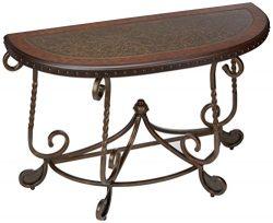 Ashley Furniture Signature Design – Rafferty Sofa Table – Traditional Style Entertai ...