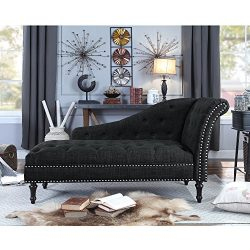 Rosevera D8-7 Deedee Chaise Lounge, Charcoal