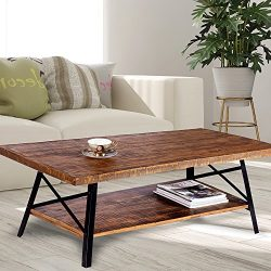 Olee Sleep 46″ Cocktail Wood & Metal Legs Coffee Table/End Table/Side Table/Dining Tab ...