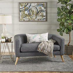 Christopher Knight Home 301296 Bridie Fabric Mid Century Modern Loveseat, Grey
