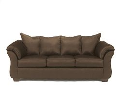 Ashley Furniture Signature Design – Darcy Contemporary Microfiber Sofa – Café