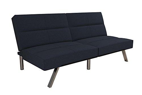 DHP Studio Convertible Futon Couch, Blue Linen