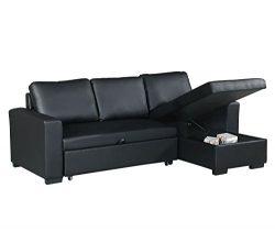 Poundex F6890 Bobkona Parker Sectional Set, Black