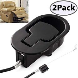 Recliner Replacement Parts – Universal Black Metal Pull Recliner Handle with Cable – ...