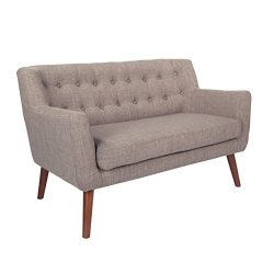 Avenue Six MLL52-M59 Loveseat, 51″x 29.5″x 31.5″, Cement