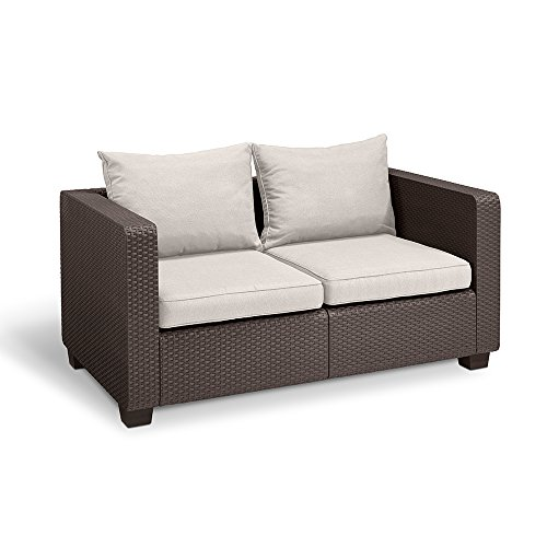 Keter Salta All Weather Outdoor Patio Furniture Loveseat 2