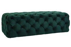 TOV Furniture The Kaylee Collection Modern Style Living Room Jumbo Velvet Upholstered Button Tuf ...
