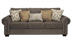 Benchcraft – Emelen Contemporary Sofa Sleeper – Queen Size Bed – Alloy Gray