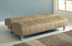 Major-Q Beige Microfiber Convertible/Adjustable Futon Couch Sofa Bed (7005635)