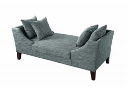 Scott Living Accent Bench in Multi-Tonal Grey Woven Upholstery
