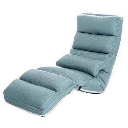 ZXQZ Recliners Home Sofa Lounge Chair Bedroom Folding Chair Portable Chaise Lounge Living Room L ...
