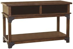 Ashley Furniture Signature Design – Murphy Sofa Table – Entertainment Console Table  ...