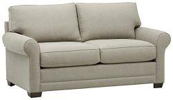 Stone & Beam Kristin Round Arm Performance Fabric Sofa, 76″ W, Stone
