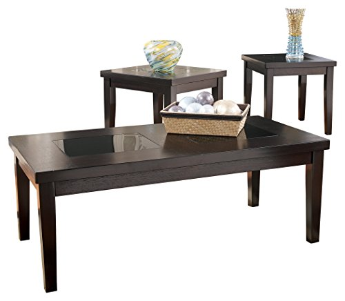 Ashley Furniture Signature Design – Denja Occasional Table Set – Contains Cocktail T ...