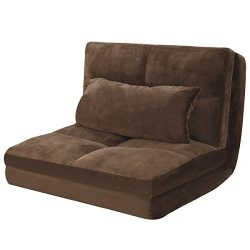 Giantex Fold Down Sofa Bed Floor Couch Foam Folding Modern Futon Chaise Lounge Convertible Uphol ...