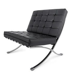 Happybuy Mid Century Modern Classic Barcelona Style Lounge Chair PU Leather Comfortable Cushione ...