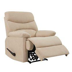 Handy Living ProLounger Wall Hugger Recliner Chair in Khaki Microfiber