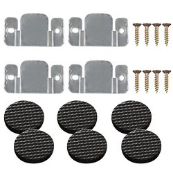 PAXCOO 4 Pack Sectional Sofa Connector Couch Furniture Interlocking Software Bracket with Screws ...