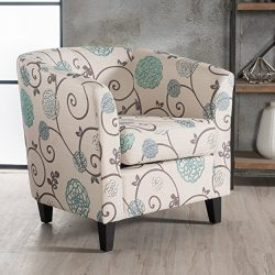 Christopher Knight Home 300399 Preston Arm Chair, White/Blue