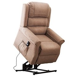 Irene House Modern Transitional Lift Chairs For Elderly Recliners With Soft Linen (Brushed )Fa ...