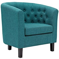 Modway EEI-2551-TEA Prospect Upholstered Fabric Contemporary Modern Accent Arm Chair Teal