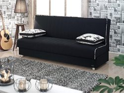 BEYAN Kentucky Collection Modern Armless Convertible Sofa Sleeper Bed with Storage Space and Inc ...