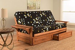 Kodiak Furniture KFPHDBBMBLOKLF5MD4 Phoenix Futon Set, Full, Barbados